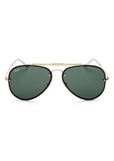 Ray-Ban Unisex Blaze Aviator Sunglasses, 61mm