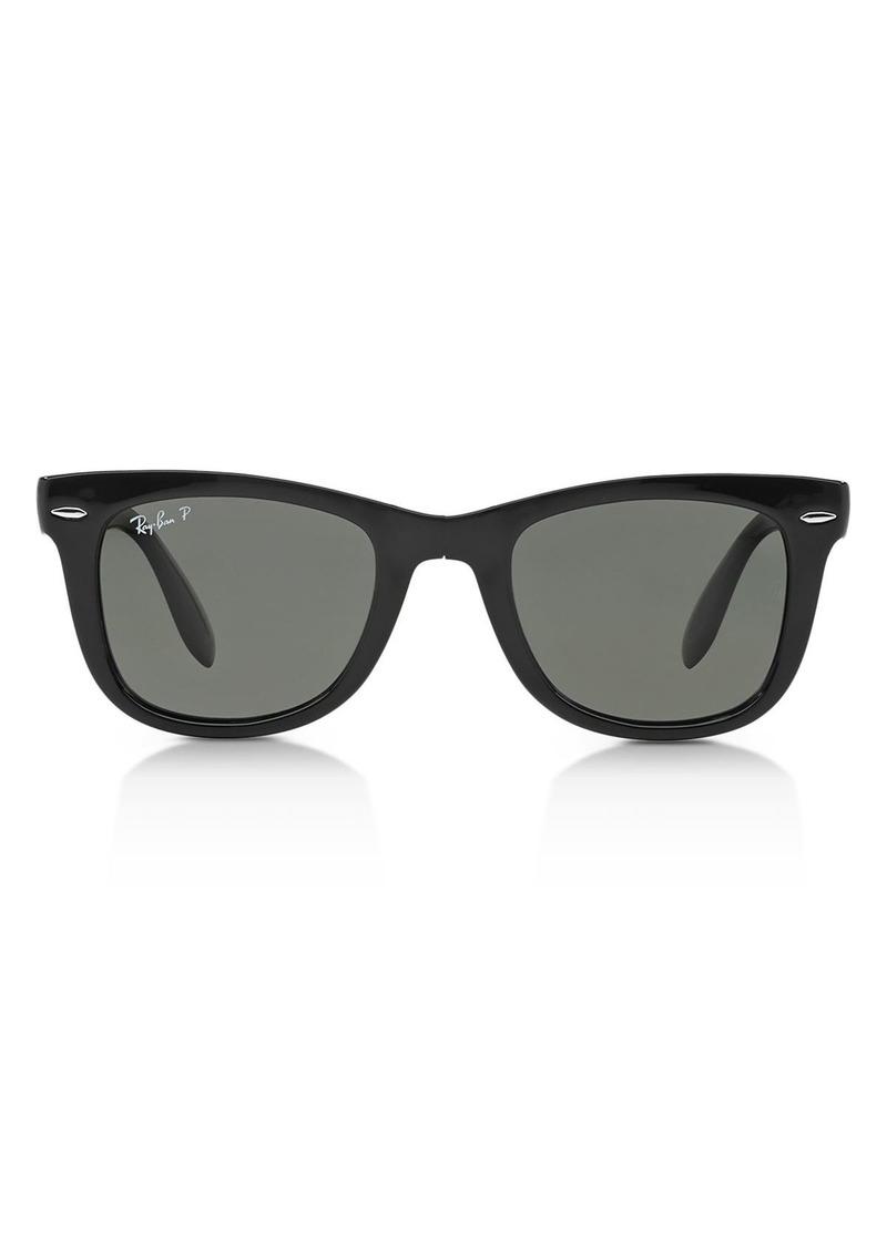 Ray-Ban Unisex Folding Polarized Wayfarer Sunglasses, 50mm