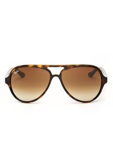 Ray-Ban Unisex Brow Bar Aviator Sunglasses, 59mm