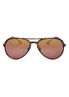 Ray-Ban Unisex Mirrored Brow Bar Aviator Sunglasses, 58mm