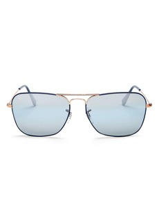 Ray-Ban Unisex Mirrored Caravan Aviator Sunglasses, 58mm