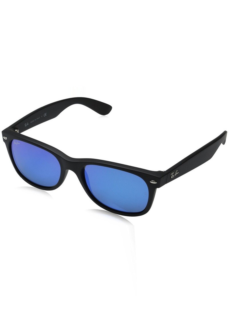 Ray-Ban Unisex New Wayfarer Flash RB2132 622/17 Non-Polarized Sunglasses /Grey Mirror Blue