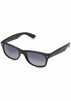 Ray-Ban Unisex New Wayfarer Polarized Sunglasses Black/Polarized Blue/Grey Gradient Blue Gradient Grey 55mm