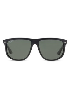 Ray-Ban Unisex Polarized Boyfriend Square Sunglasses, 60mm