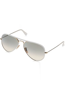 Ray-Ban Unisex RB3025JM - 146/32 Aviator Full Color Sunglasses White/ Gold 58mm