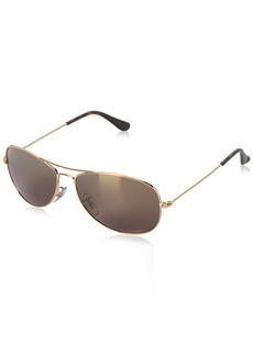 Ray-Ban Unisex RB3562 Chromance Lens Pilot Sunglasses /Brown Mirror Lens (001/6B)