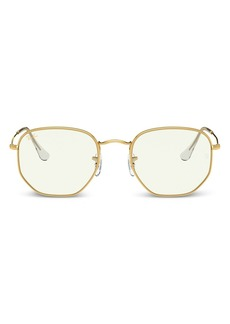Ray-Ban Unisex Round Blue Light Glasses, 47mm