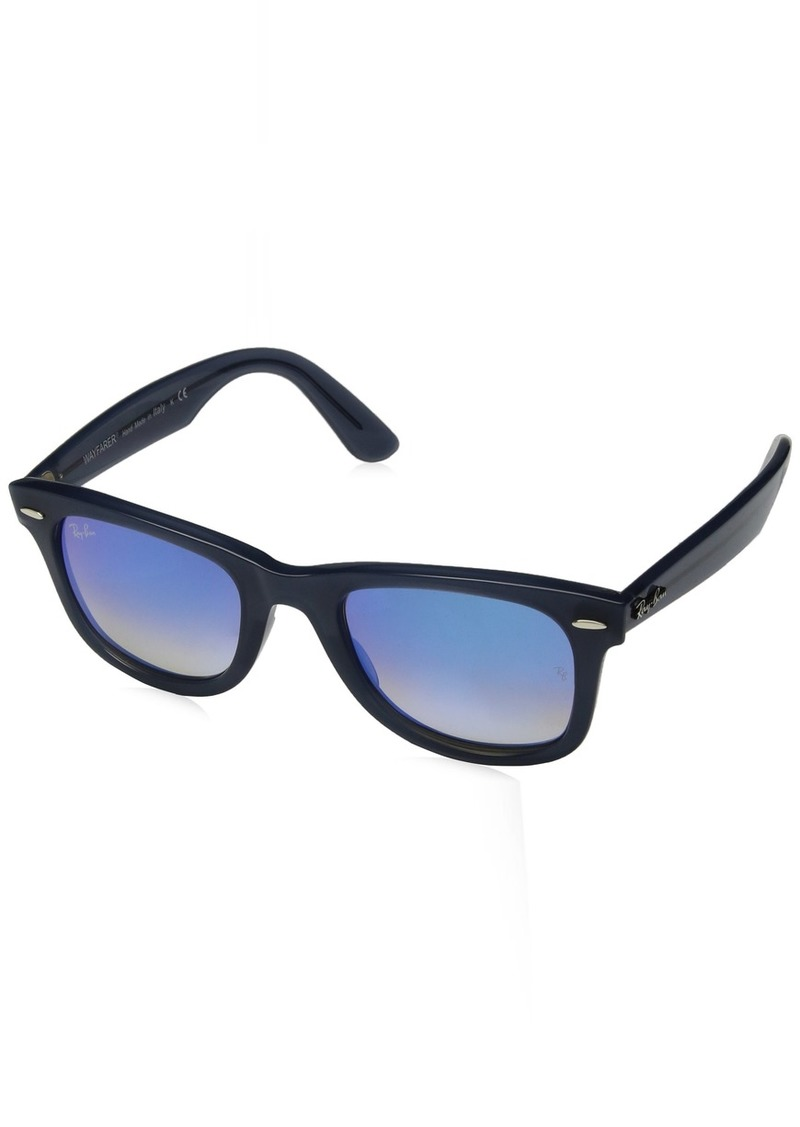 Ray-Ban Wayfarer Non-Polarized Iridium Square Sunglasses BLUE