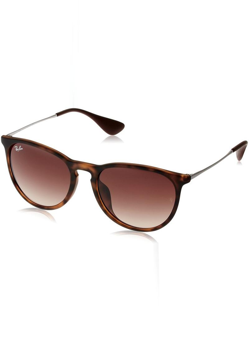 Ray-Ban Women's Erika (f) Aviator Sunglasses AVANA GOMMATO 57.0 mm