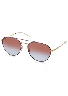 Ray-Ban Women's Metal Woman Sunglass Square Gold TOP ON Violet