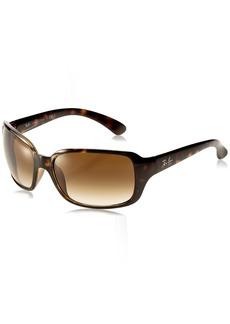 Ray-Ban Women's Rb4068 Square Sunglasses LIGHT HAVANA
