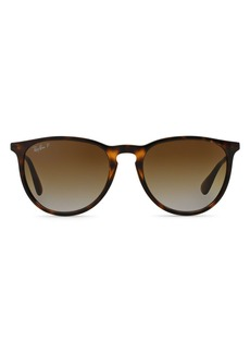 Ray-Ban Unisex Erica Polarized Classic Round Sunglasses, 54mm