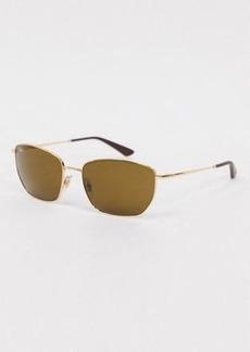 Ray-Ban Rayban angular hexagonal sunglasses in gold