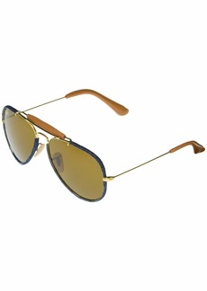Ray-Ban RB3422Q Aviator Craft Metal Sunglasses 58 mm