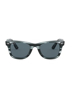Ray-Ban RB4340 50MM Striped Wayfarer Sunglasses