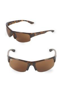 Ray-Ban 62MM Rectangle Wrap Sunglasses
