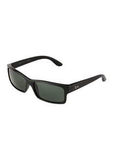Ray-Ban Rectangular Tortoiseshell Acetate Sunglasses