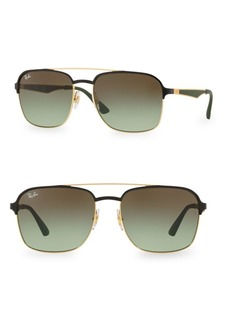 Ray-Ban RB3570 58MM Square Aviator Sunglasses