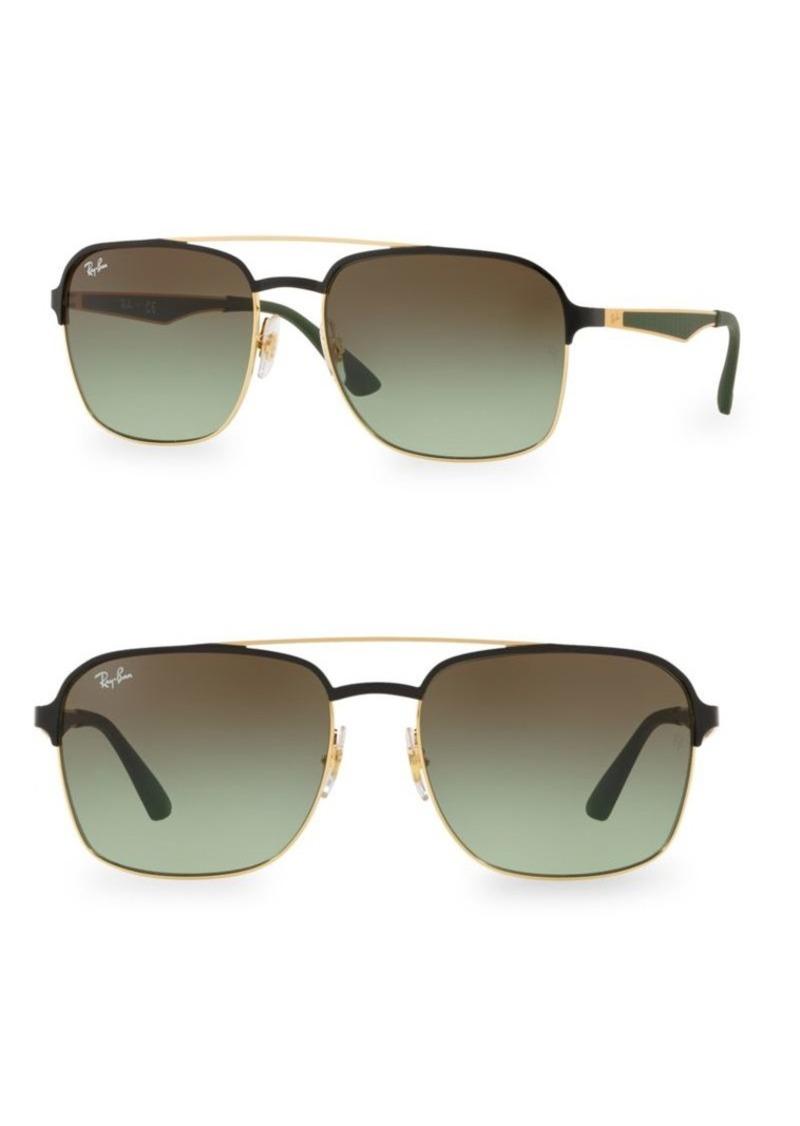 Ray-Ban RB3570 58MM Square Aviator Sunglasses