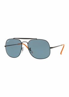 Ray-Ban The General Aviator Polarized  Sunglasses  Black