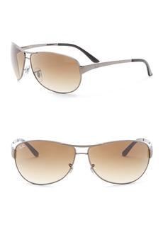 Ray-Ban Warrior Polarized 63mm Aviator Sunglasses