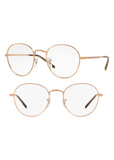 Women's Ray-Ban 49mm Round Optical Glasses - Copper