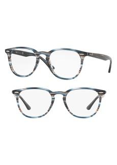 Women's Ray-Ban 50mm Optical Glasses - Blue Stripe