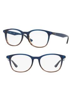 Women's Ray-Ban 52mm Optical Glasses - Blue Stripe