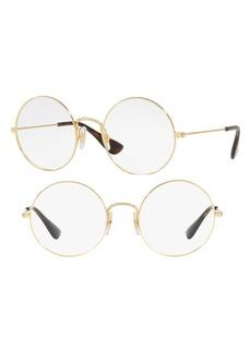 Women's Ray-Ban 53mm Round Optical Glasses - Havana Gold