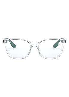 Women's Ray-Ban 7066 54mm Optical Glasses - Transparent/ Green
