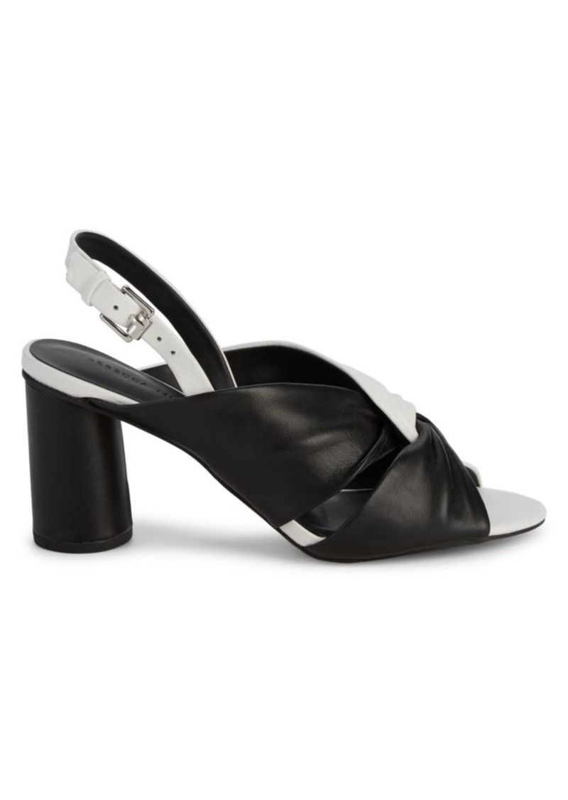 Rebecca Minkoff Agata Bi-Color Leather Slingback Sandals