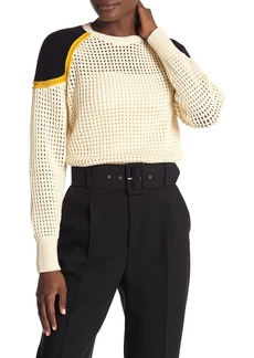 Rebecca Minkoff Alexis Open Stitch Sweater