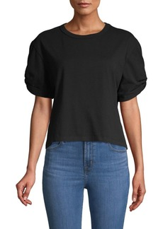 Rebecca Minkoff Ally Short-Sleeve Cotton Top