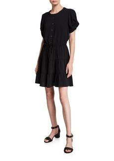 Rebecca Minkoff Aston Short-Sleeve Button-Front Dress