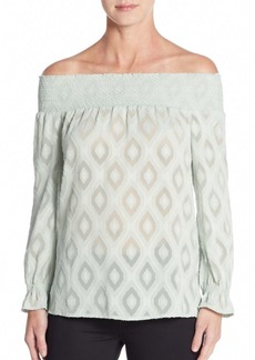 Rebecca Minkoff Atmosphere Off-the-Shoulder Jacquard Top