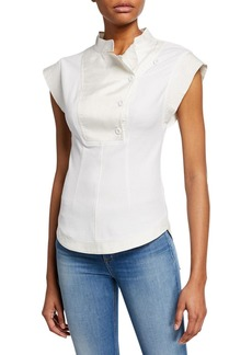 Rebecca Minkoff Azure High-Neck Button Top