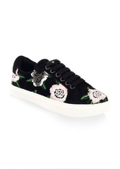 Rebecca Minkoff Bleecker Floral-Embroidered Suede Sneakers