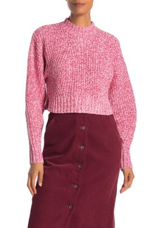 Rebecca Minkoff Bowie Marled Crop Pullover Sweater