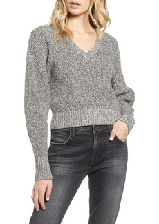 Rebecca Minkoff Bowie Marled V-Neck Dolman Crop Sweater