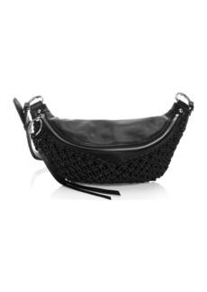 Rebecca Minkoff Bree Macramé Leather Belt Bag