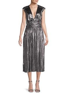 Rebecca Minkoff Briella Metallic Pleated Dress