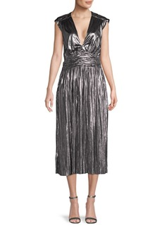 Rebecca Minkoff Briella Metallic Pleated Dress