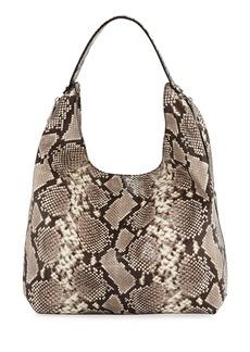 Rebecca Minkoff Bryn Snake-Print Denim Hobo Bag