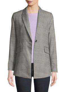 Rebecca Minkoff Celia Single-Button Check Jacket