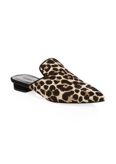 Rebecca Minkoff Chamille Too Leopard Calf Hair Mules
