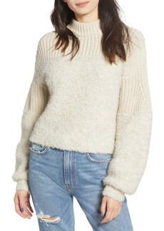 Rebecca Minkoff Chase Fuzzy Balloon Sleeve Sweater