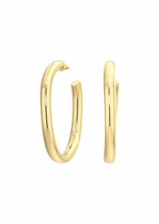 Rebecca Minkoff Chunky Tubular Hoop Earrings