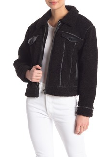 Rebecca Minkoff Clark Faux Shearling Faux Leather Trimmed Jacket