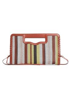 Rebecca Minkoff Colorblock Stripe Whipstitch Clutch
