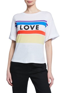 Rebecca Minkoff Cydney Love Stripe Short-Sleeve Cotton Tee